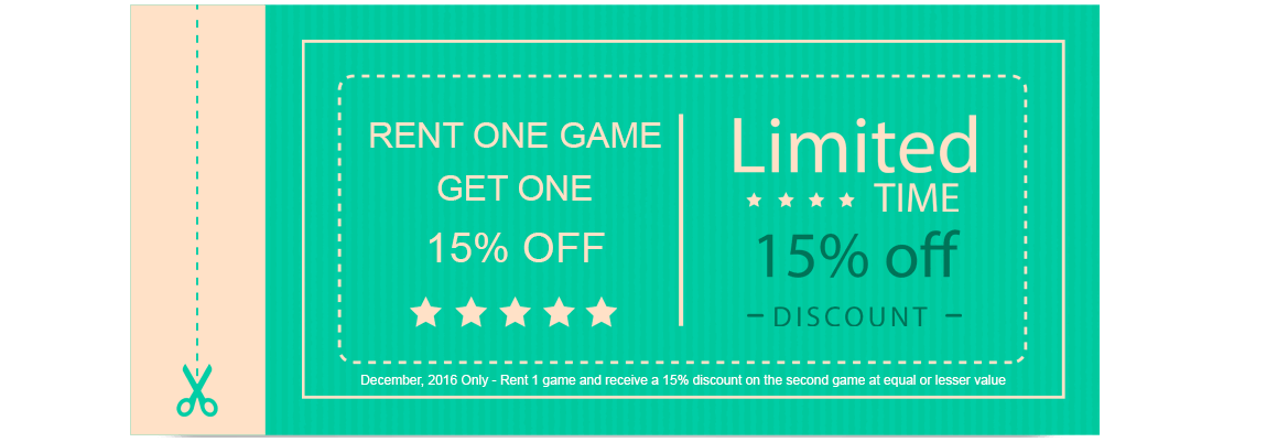 December Game Rental Coupon