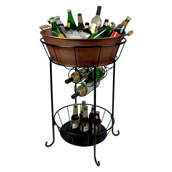 beverage stand of design bisita cooper guam coolest home drink tub image depot with collections