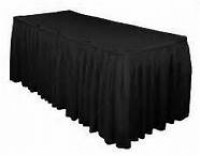 black-table-skirting