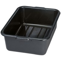 tablecraft-1537e-black-21-x-16-x-7-recycled-polyethylene-plastic-bus-tub-bus-box
